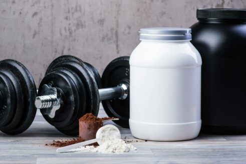protein powder and weights