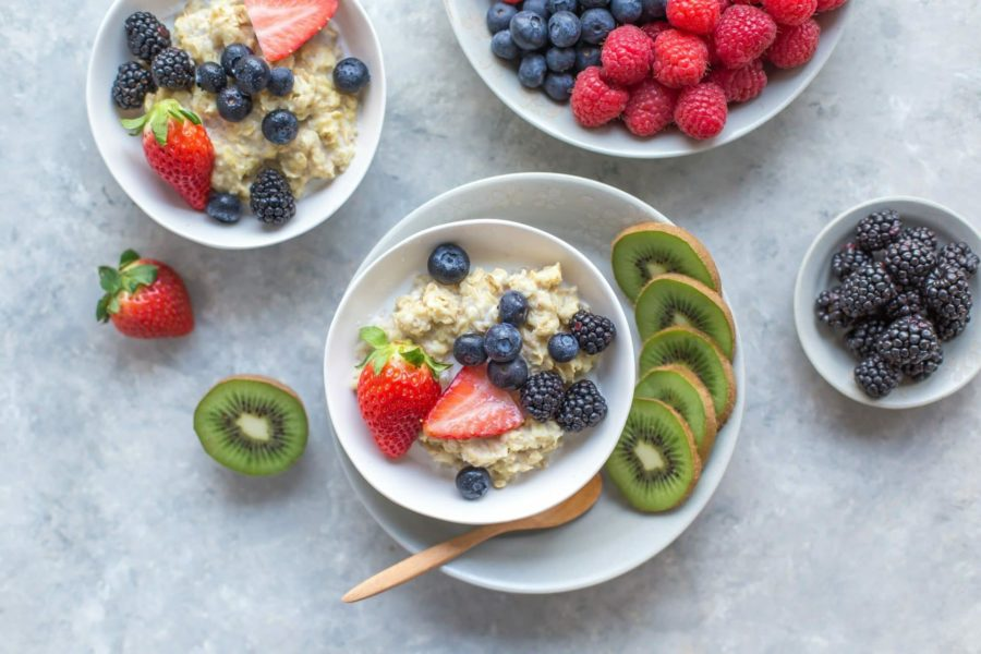 healthy carbs fruits and oatmeal